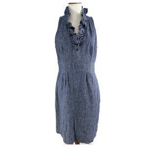 Just Taylor 12 sleeveless dress ruffles blue